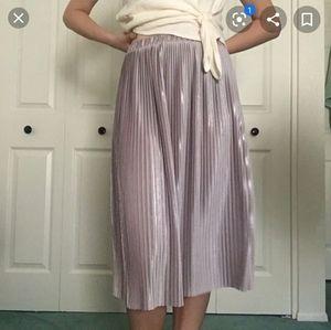 ❗Sale❗Zara metallic pleated skirt